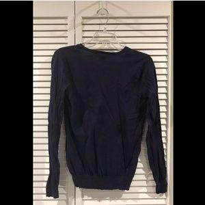 Ralph Lauren Sweaters - Ralph Lauren Sport Navy Vneck Long Sleeve Lightwei